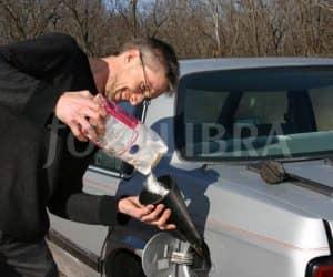 Putting Sugar into car gas tank