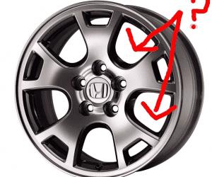 Tire rim holes