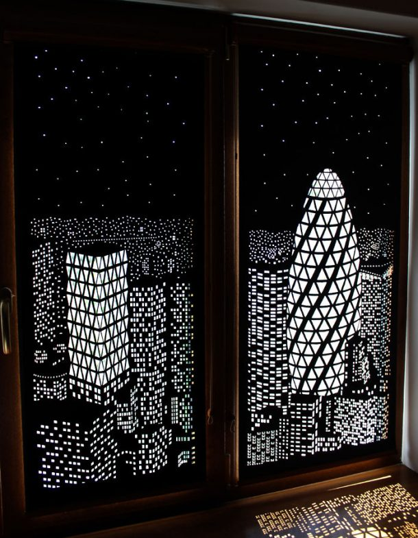 These blackout blinds curtains will turn your windows into Blackout curtains city skyline