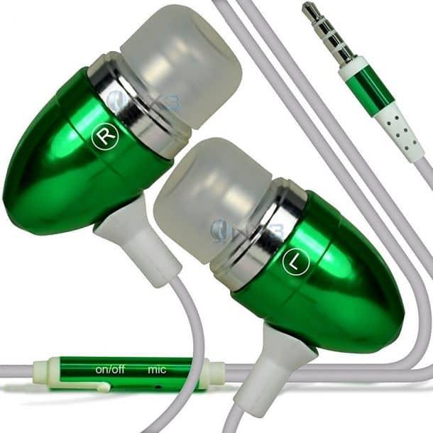 ONX3 (Green) Huawei P10 Lite Aluminum Earphones