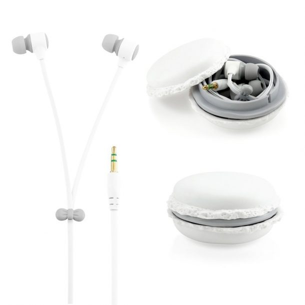 White 3.5mm In Ear Earphones Earbuds Headset