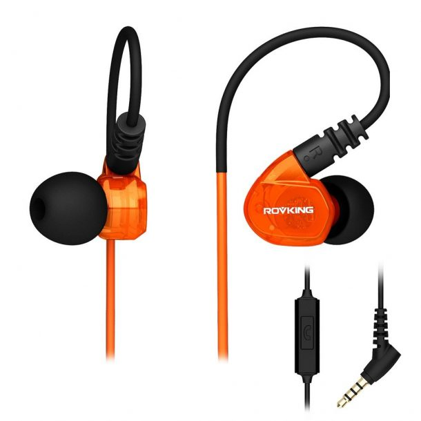 ROVKING Over Ear In Ear Noise Isolating Sweatproof Earphone