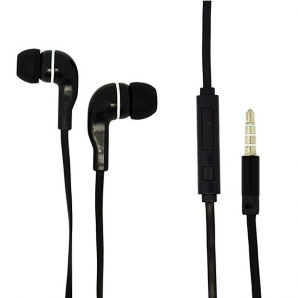 For Android Cell Phone 3.5mm Audio Earphone Volume Control w/mic