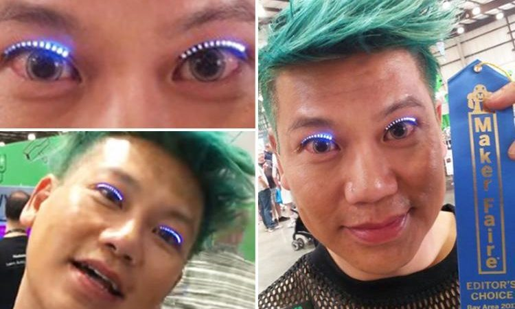 This Swedish Designer Just Unveiled Flashing LED Eyelashes And People Are Confused