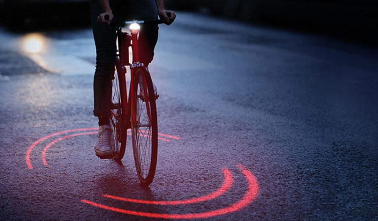 Michelin's Bikesphere Lighting System Uses Lasers To Make Cyclists More Visible