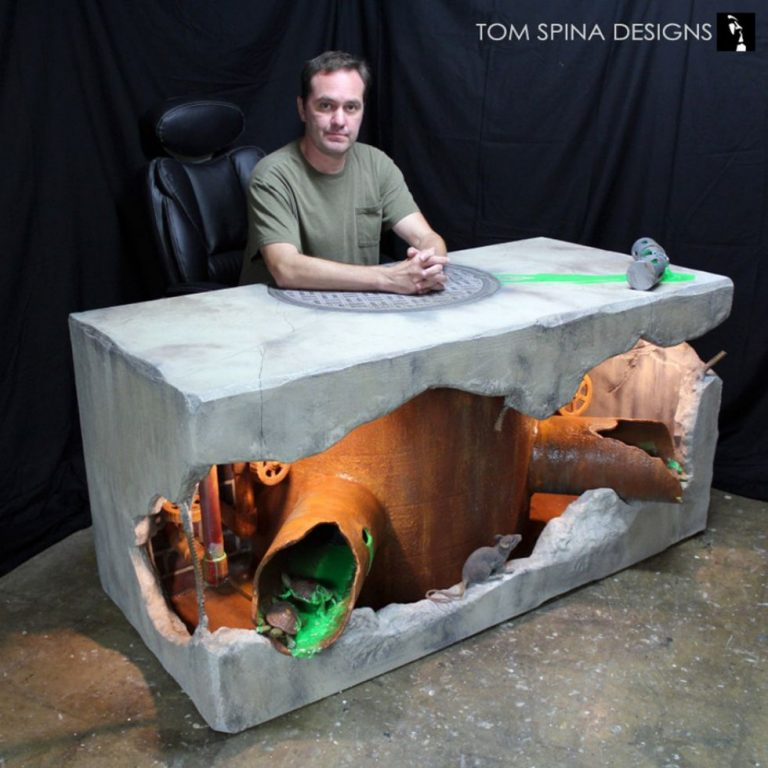 This Teenage Mutant Ninja Turtles Inspired Desk Is A