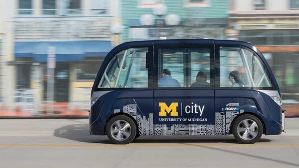 University Of Michigan's New Self-Driving Buses Will Shuttle Students Across Campus