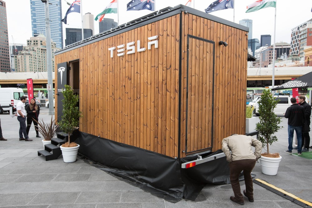 Tesla S Futuristic Tiny House Shows Off Its Energy