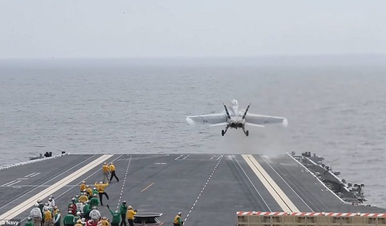 US Navy Successfully Launches A Fighter Jet With An Electromagnetic Catapult
