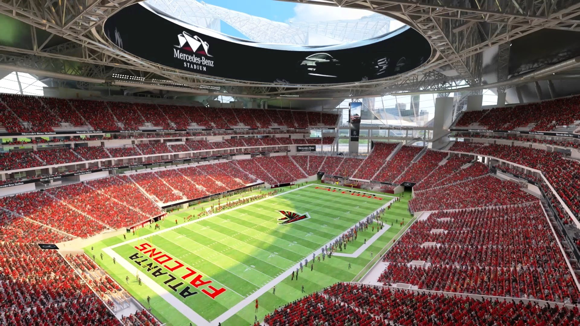 watch the 39 month construction of mercedes benz stadium