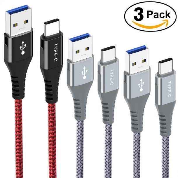 USB Type C Cable,UTOPER USB 3.0 A to USB C (6.6FT) Long Nylon Braided