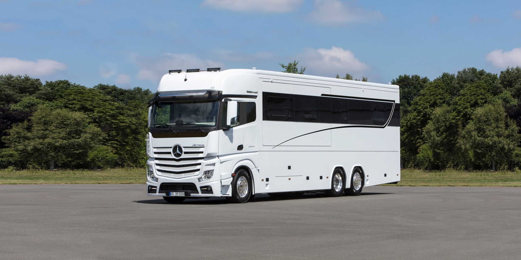 This 1 million luxury motorhome has enough space for your for Million dollar motor homes