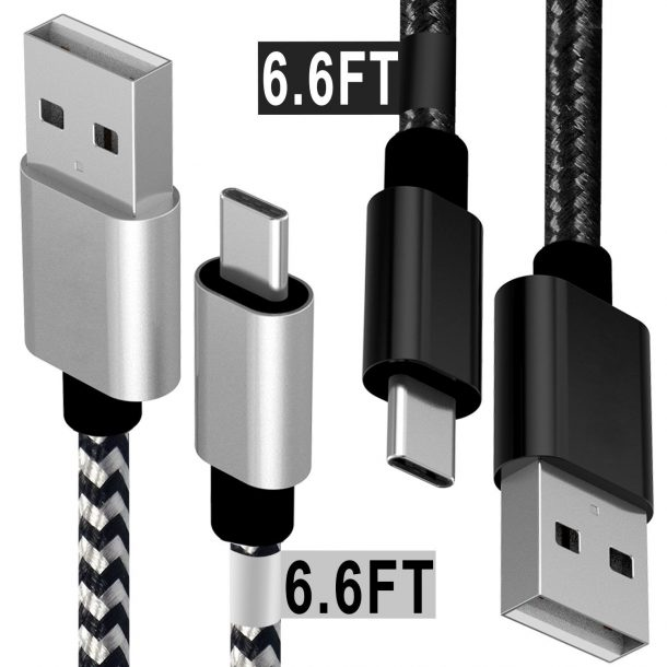 Matein USB Type C Cable,2Pack 6FT Extra Long Braided Fast Charging Cables for LG G6