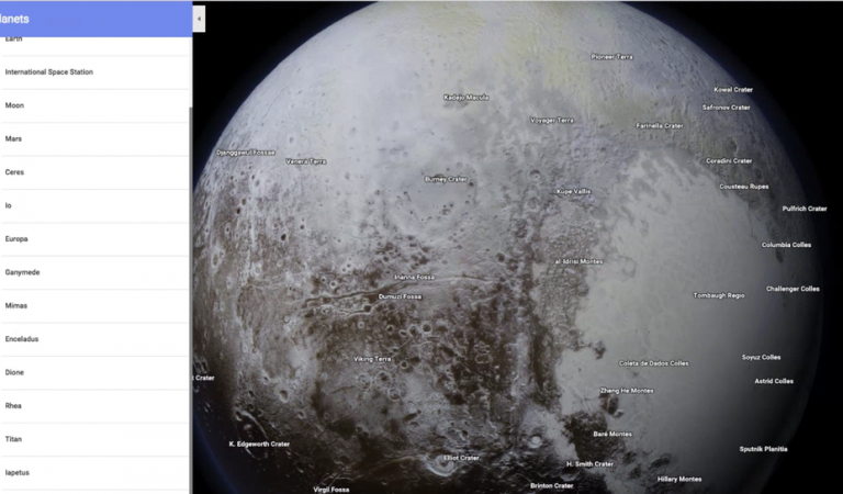 New Google Maps Feature Allows You To Discover The Moon And Planets In Amazing Detail