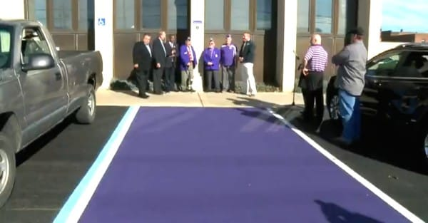 Public Parking Spots In The US Are Being Painted Purple For A Special Reason