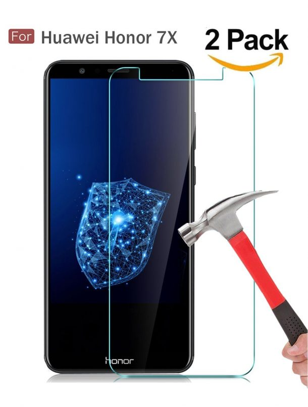 Wellci Tempered Glass Screen Protector for Huawei Honor 7X