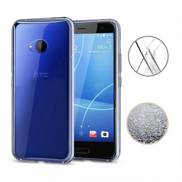 TopACE Transparent Soft Gel TPU Silicone Case for HTC U11 L