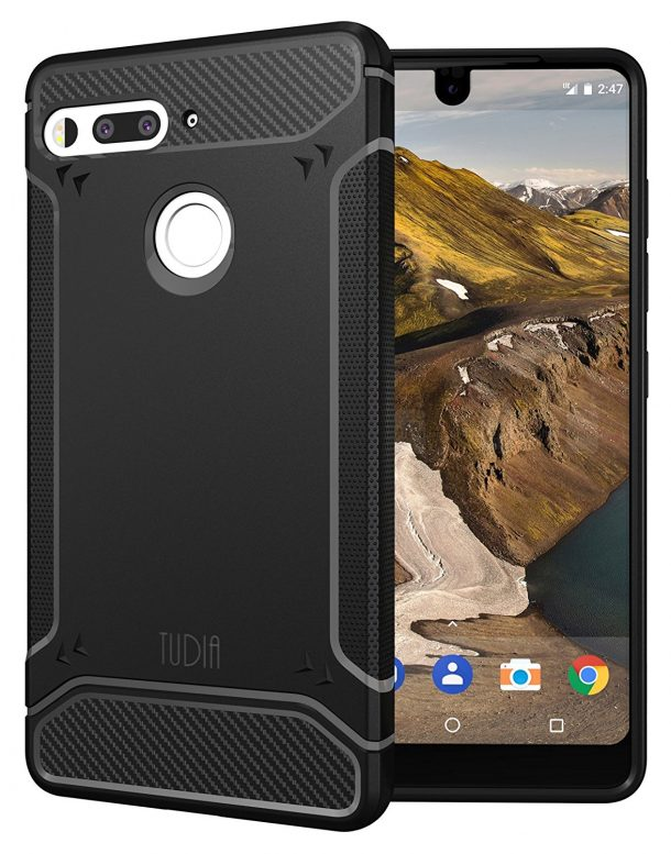 TUDIA Carbon Fiber Design Lightweight Case for Essential PH-1