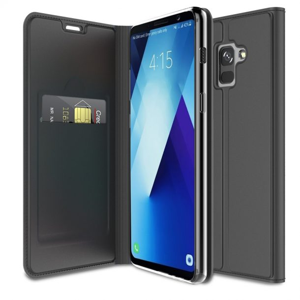 FugouSell Premium PU Leather Protective Wallet Case for Samsung Galaxy A8 2018