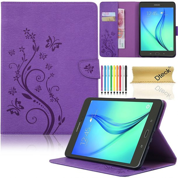 Dteck Slim Fit Protective Synthetic Leather Stand Case for Samsung Galaxy Tab A 8.0