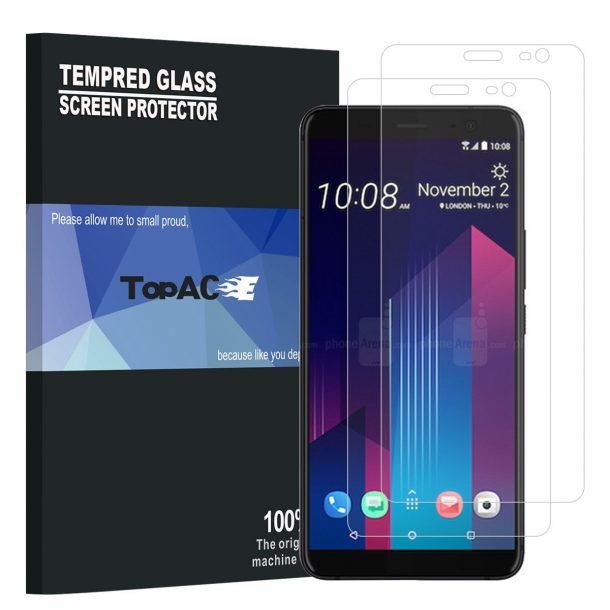 TopACE Premium Quality Tempered Glass Screen Protector for HTC U11 Plus