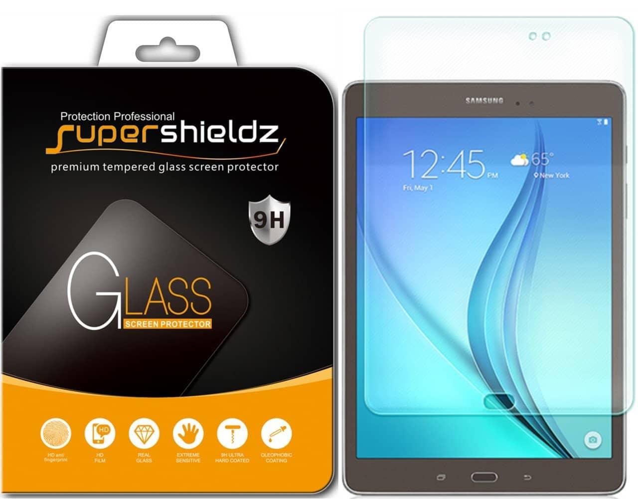 E Premium Tempered Glass Screen Protector Film Guard for Samsung Galaxy Tab A