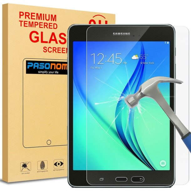PASONOMI Premium Tempered Glass Screen Protector for Samsung Galaxy Tab A 8.0 ($8.95)