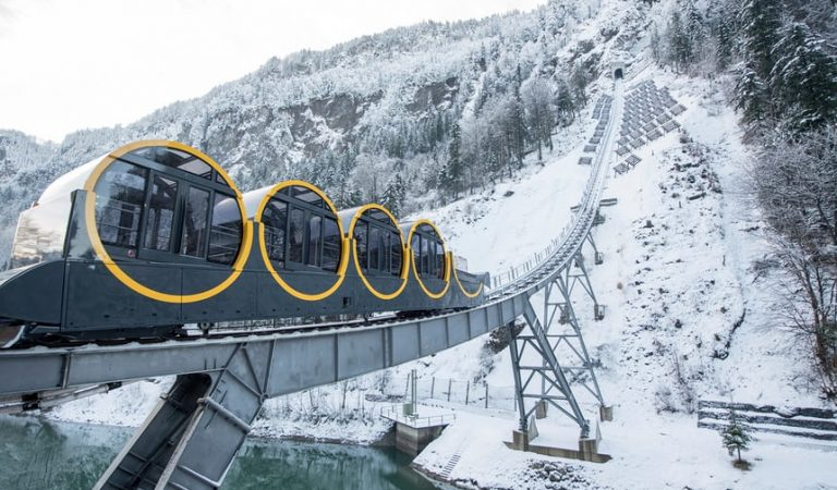 World's Steepest Funicular Rail Line Opens In Switzerland