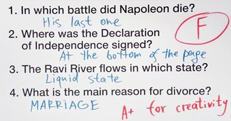 12 Creative Ways To Answer Exam Questions You Have No Idea About
