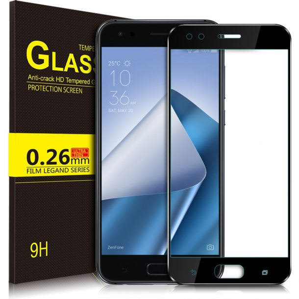 JIANGNIUS Screen Protectors 25 PCS 9H 5D Full Glue Full Screen Tempered Glass Film for Huawei Honor 9 Lite