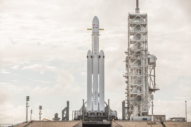 SpaceX conducts Falcon Heavy static fire test