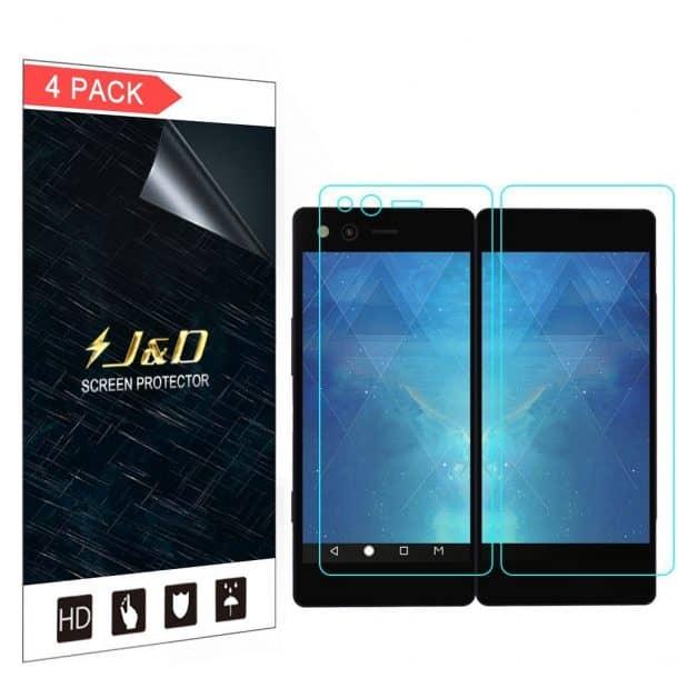 J&D Premium HD Clear Screen Protector for ZTE Axon M