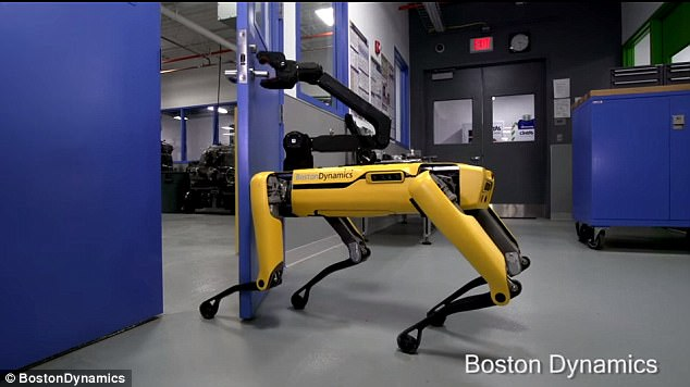 Boston Dynamics' SpotMini Robot Can Now Open Doors For Friends