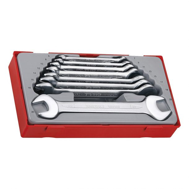 Teng Tools 8 Piece Double Open Ended Spanner Set for home