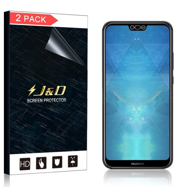 J&D HD Clear Screen Protectors for Huawei P20 Lite