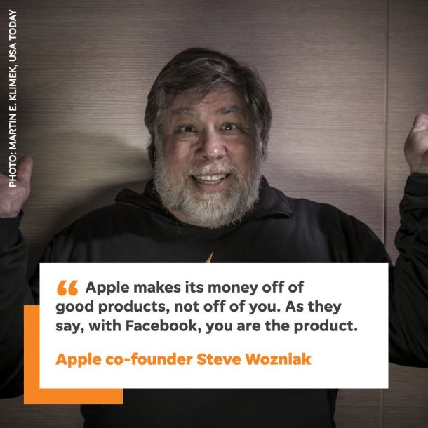 Look! Apple Co-Founder Steve Wozniak Leaves Facebook