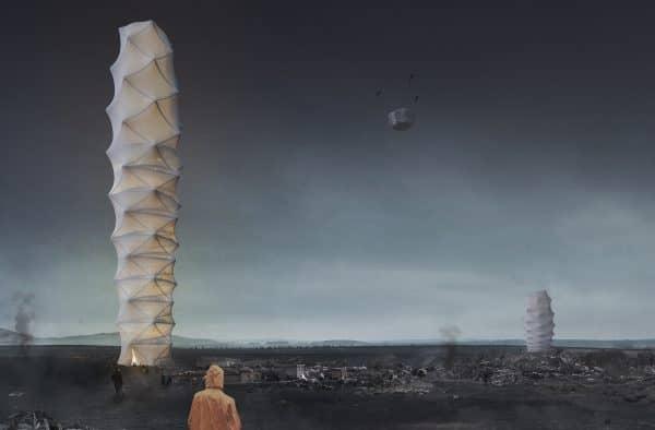 Origami-Inspired Foldable Skyscraper Wins The Annual Skyscraper Competition