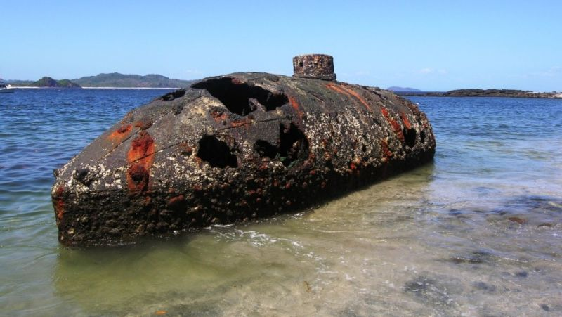 wrecked submarine