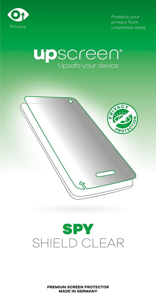 upscreen Spy Shield Clear Privacy Screen Protector