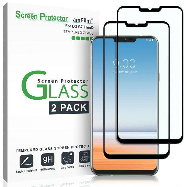 amFilm Tempered Glass Screen Protector for LG G7 ThinQ