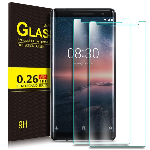 KuGi Tempered Glass Screen Protector for Nokia 8 Sirocco