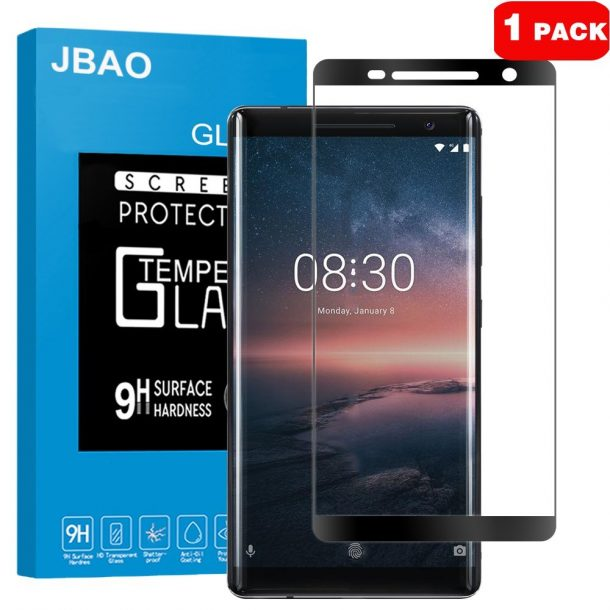 Jbao Direct Tempered Glass Screen Protector for Nokia 8 Sirocco