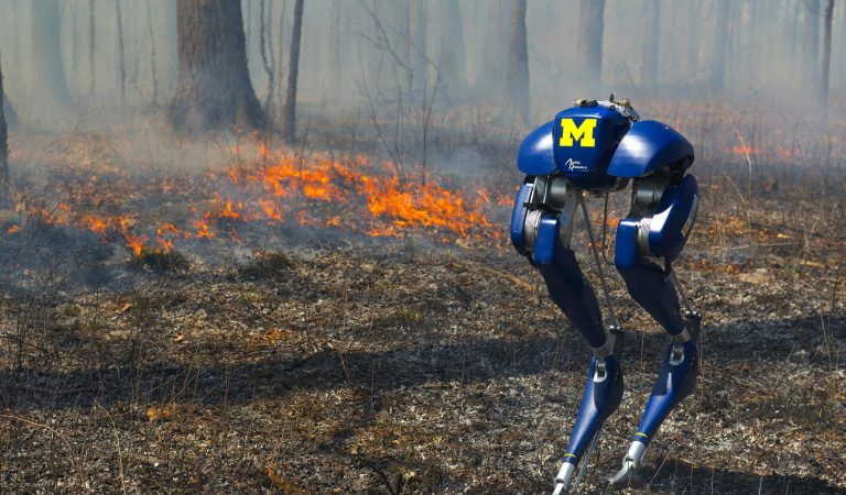 University Of Michigan Invents A Bipedal Robot That Can Walk Through Fire