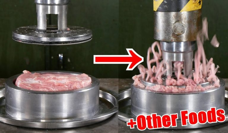 Watching This Hydraulic Press Crush Food Items Is Oddly Satisfying