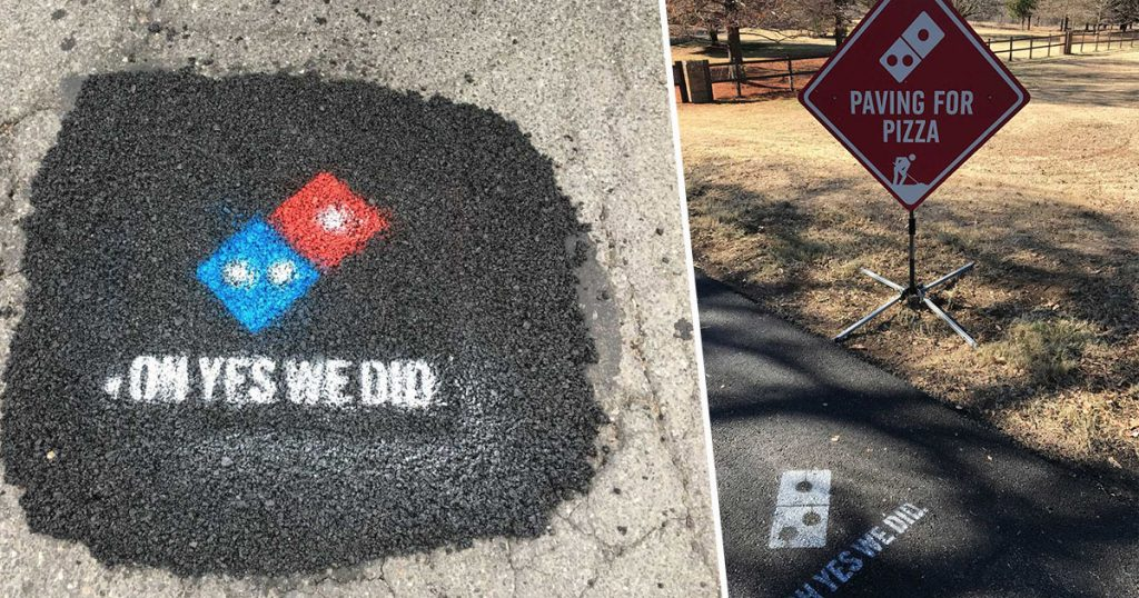 paving for pizza domino