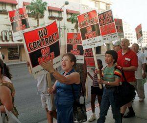 workers strike in Las Vegas