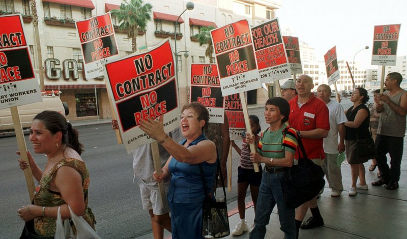 workers strike in Las Vegas