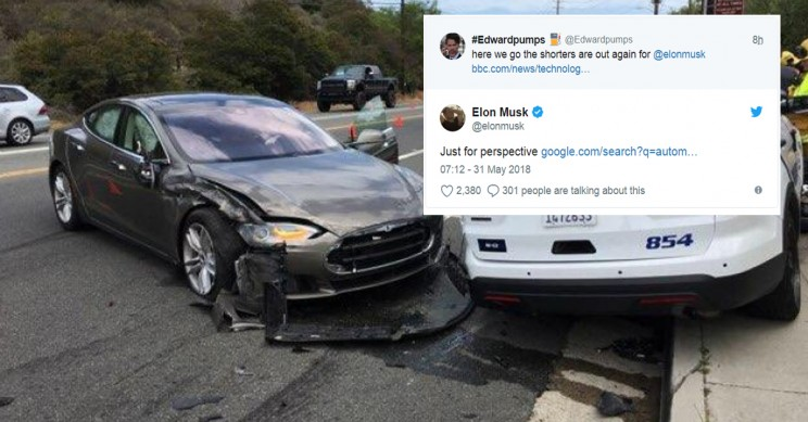 Musk Just Gave Perspective On Traffic Deaths In Response To Tesla Police Car Crash
