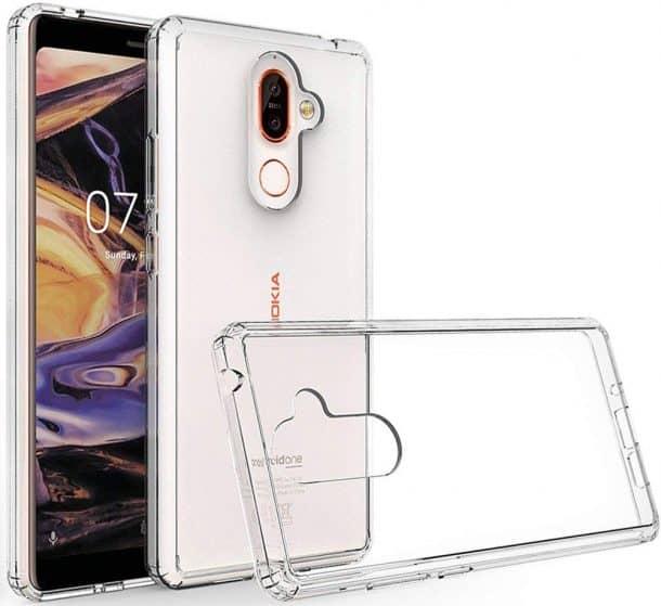 Waterproof Crystal TPU Phone case for Nokia 7 Plus