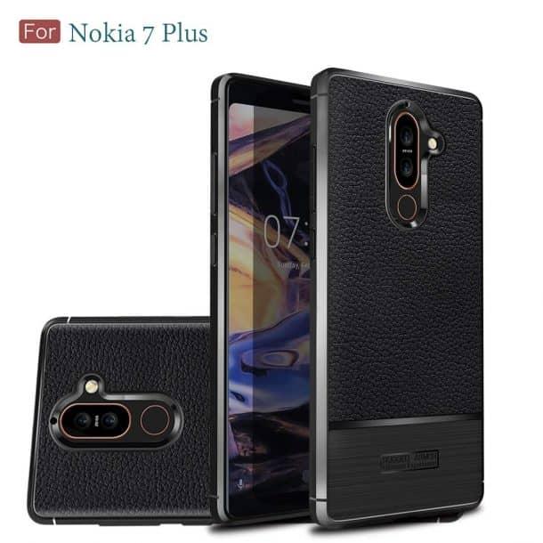 Wellci Flexible TPU Soft Skin Silicone Case for Nokia 7 Plus